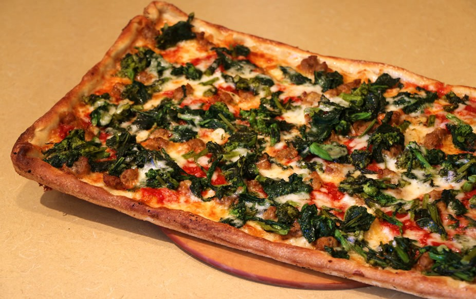 Broccoli Rabe & Sausage Pizza | Cafe Sitaly | Best Italian Restaurant Wilmington, Delaware|